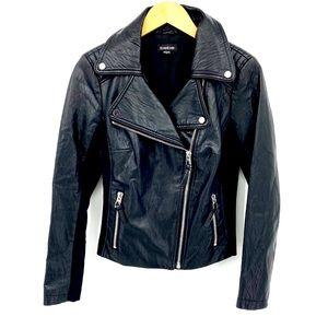 Bebe Classic Leather Black Moto Jacket M